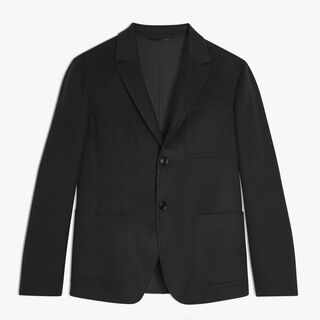 Unlined Supple Cashmere Jacket, NOIR, hi-res