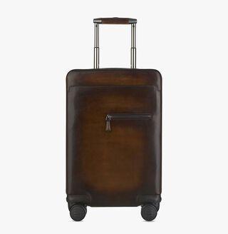 Formula 1004 Calf Leather Rolling Suitcase, TOBACCO BIS, hi-res