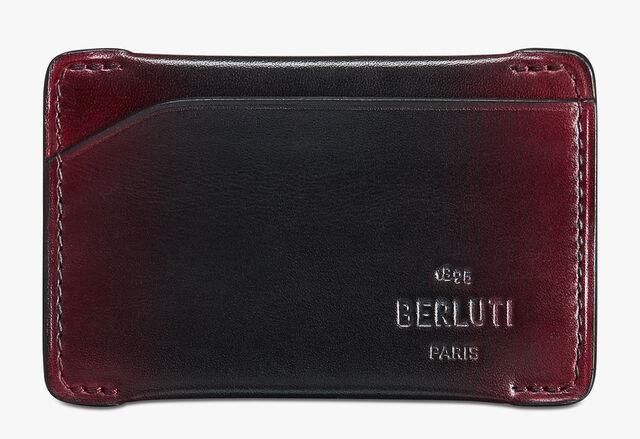 Easy Epure Leather Card Holder, BLACK RED, hi-res