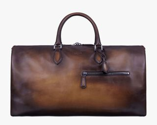 Jour-Off Leather Travel Bag, TOBACCO BIS, hi-res