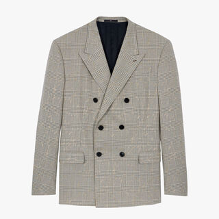 Double Breasted Prince Of Wales Jacket