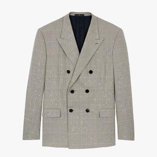 双排扣威尔士亲王格纹夹克
