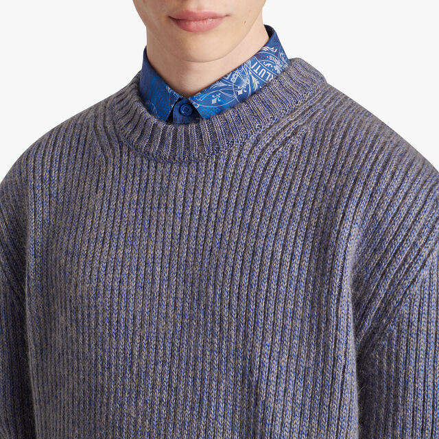 Silk And Mohair Patina Sweater, SPACE BLUE, hi-res