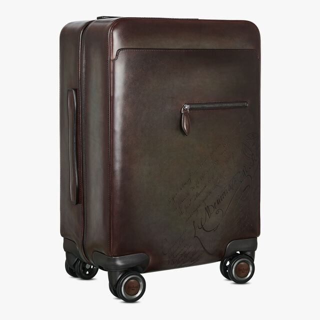 Formula 1004 Scritto Leather Rolling Suitcase, ICE BROWN, hi-res