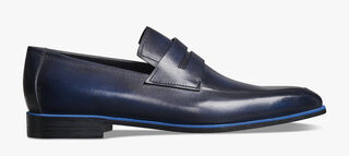 Andy Démesure Leather Loafer, BLU PROFONDO, hi-res