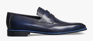 Andy Démesure皮革乐福鞋, BLU PROFONDO, hi-res