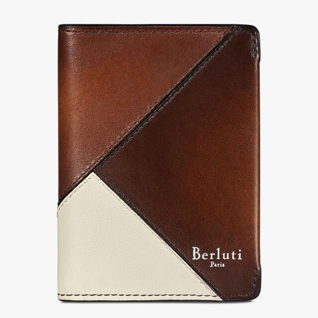 Ideal Venezia Calf Leather Cardholder, BRUN+IVORY, hi-res