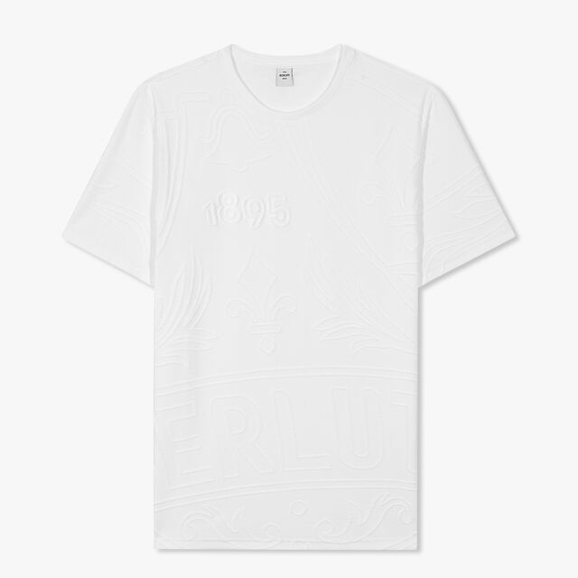 Terry Crest T-shirt, BLANC OPTIQUE, hi-res