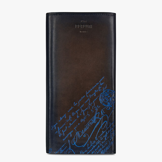 Espace Scritto Leather Long Wallet, BURNT BLUE, hi-res