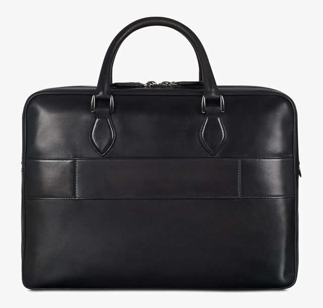F088 Leather Briefcase, DEEP BLACK, hi-res