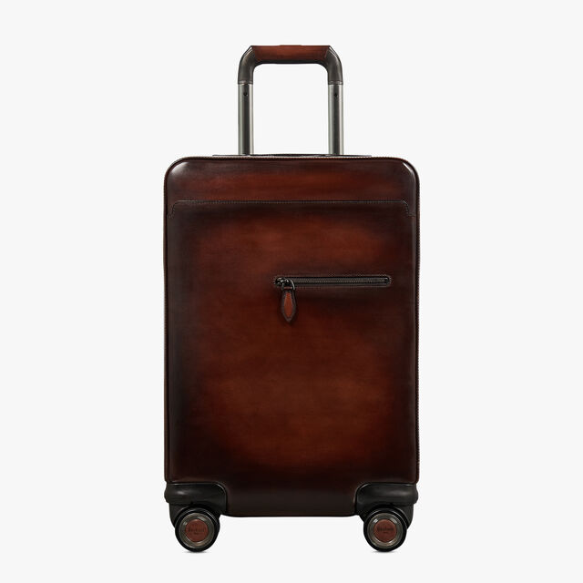 Formula 1004 Leather Rolling Suitcase, MOGANO, hi-res