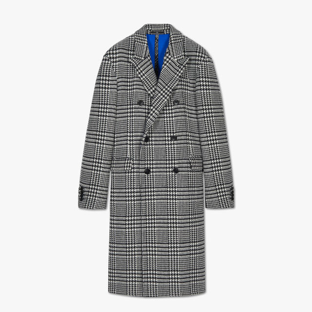 Manteau Double Face Prince De Galles, BLACK CHECK / LAPIS BLUE, hi-res