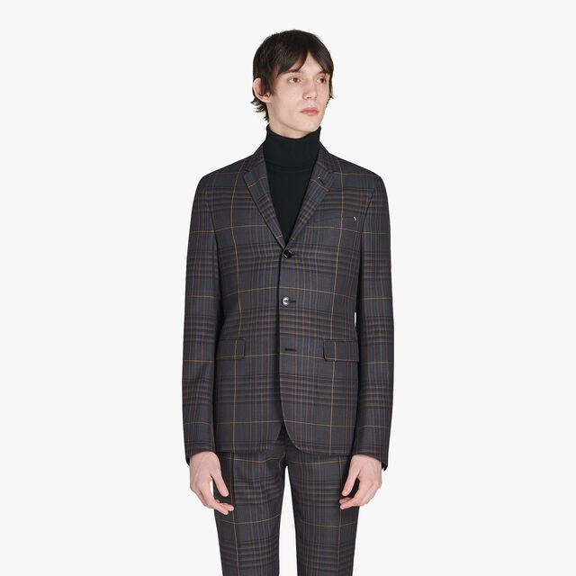 Andy Formal Checked Wool Jacket, CAOS NIGHT CHECK, hi-res
