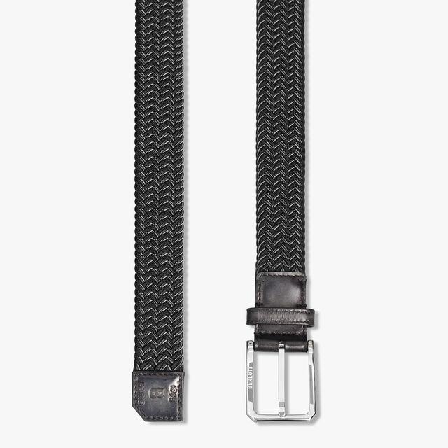 Versatile Fabric And Leather 32 MM Belt, NERO GRIGIO, hi-res