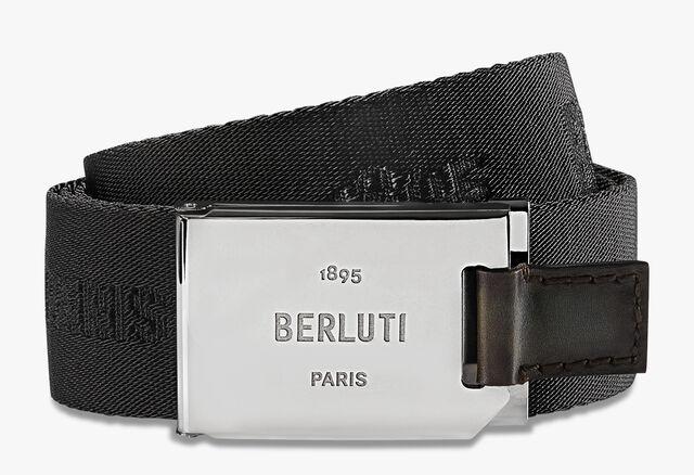 Gravity Nylon And Leather 35 MM Belt, NERO, hi-res