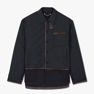 Nylon And Wool Quilted Overshirt