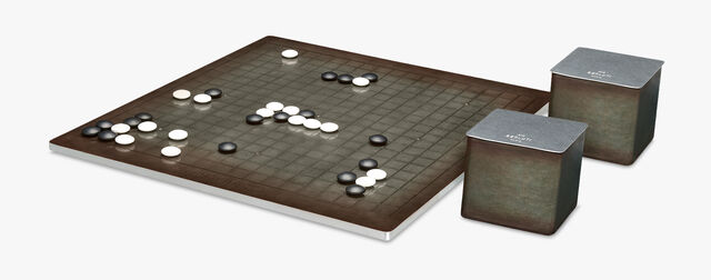 Game Of Go Leather And Metal Game, ICE BROWN, hi-res