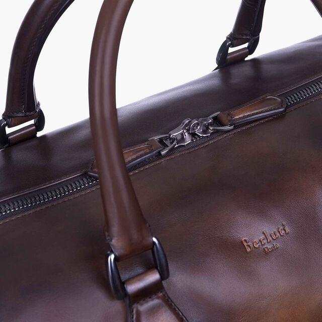 Jour Off Large Leather Travel Bag, TOBACCO BIS, hi-res