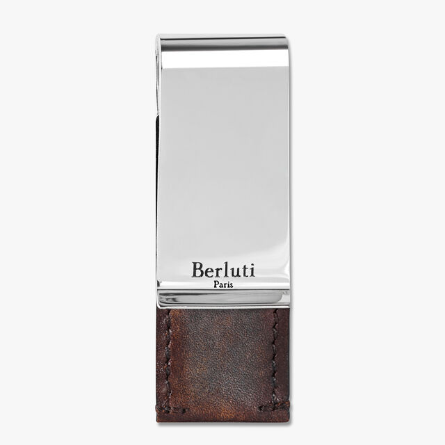 Leather Money Clip, ICE BROWN, hi-res