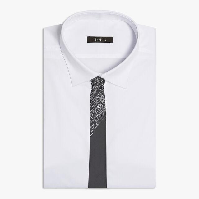 6 cm Jacquard Scritto Silk Tie, LEAD, hi-res