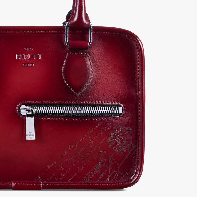 """""""一天""""GULLIVER 皮革手拿包, SIMAL RED, hi-res"""