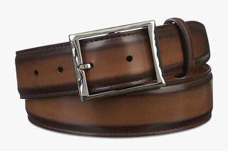 Classic Calf Leather Belt - 35 Mm, TOBACCO BIS, hi-res