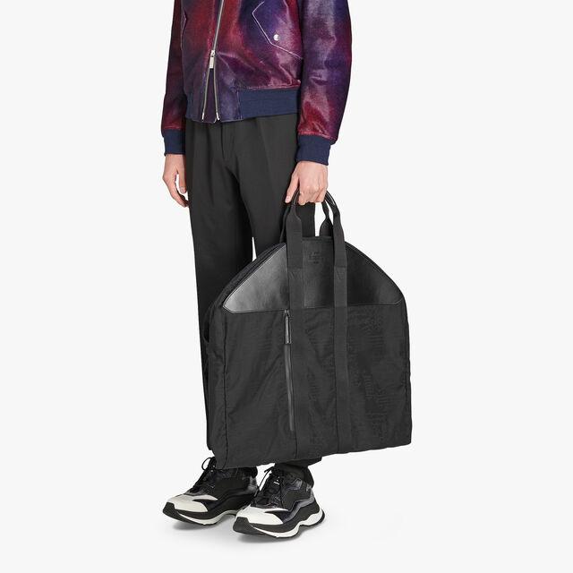 B-Way Scritto Nylon Garment Bag, NERO, hi-res