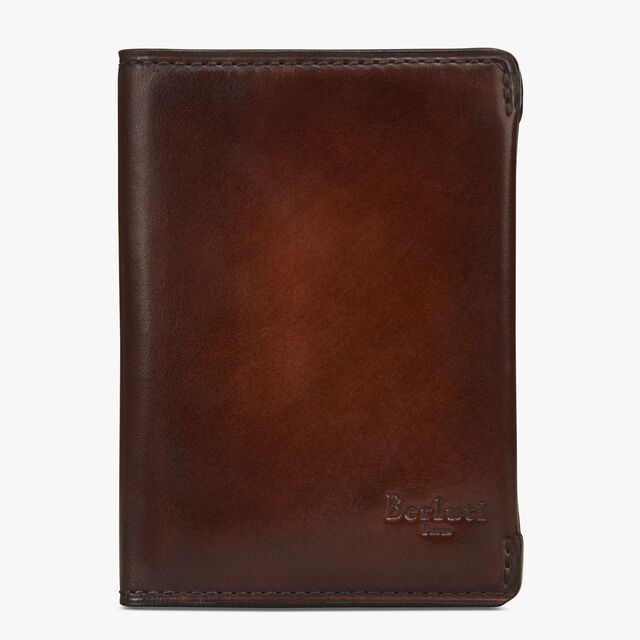 Ideal Epure Small Leather Card Holder, MOGANO, hi-res