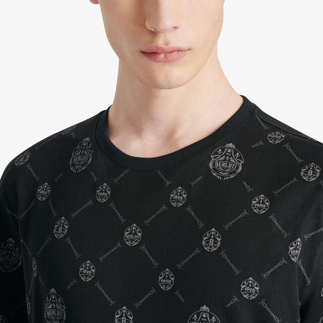 T-shirt En Toile Signature, NOIR, hi-res