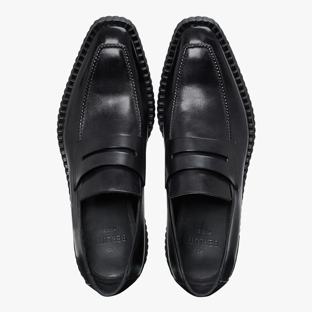 Andy Demesure Calf Leather Loafer, JET BLACK, hi-res