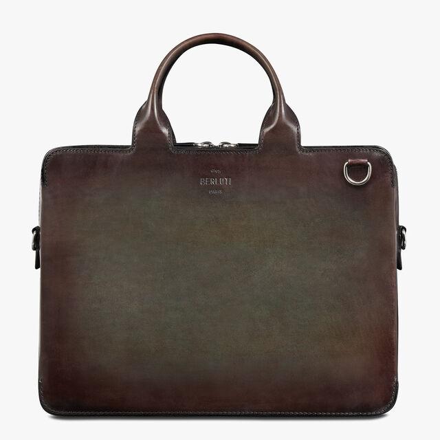 Profil 3 Mini Leather Briefcase, ICE BROWN, hi-res