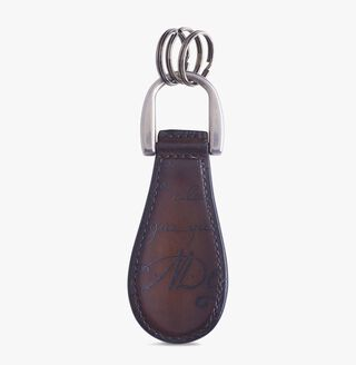 Leather Key Ring, MOGANO, hi-res