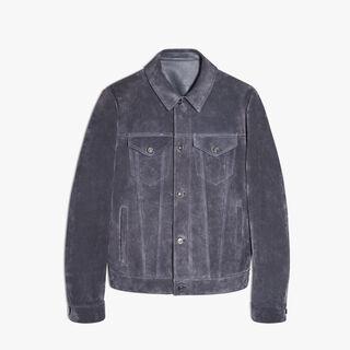 Calfskin-Suede Jacket, ANTHRACITE, hi-res
