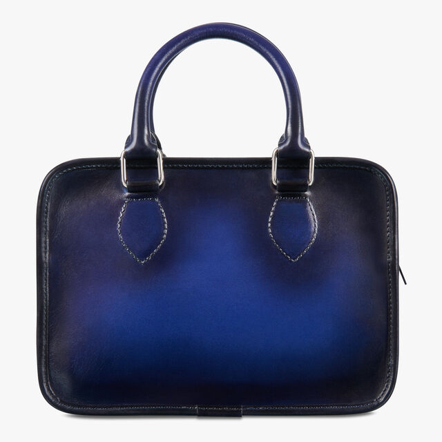 Un Jour Gulliver Scritto Leather Messenger Bag, UTOPIA BLUE, hi-res