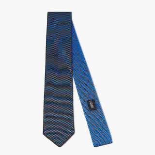 Two-Tone Silk Knit Tie, AVIAZIONE, hi-res