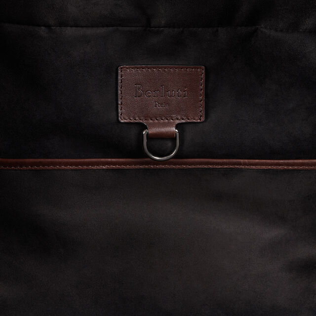 Cube Large Leather Travel Bag, BRUN, hi-res