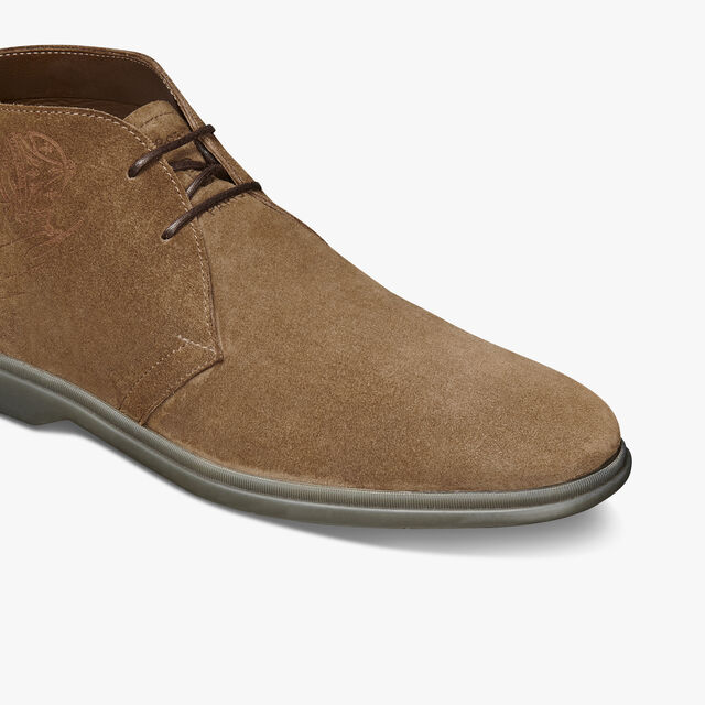 Bottine Chukka Latitude En Veau Velours, TAUPE, hi-res