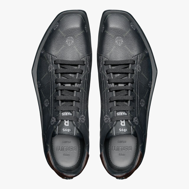 Stellar Canvas Signature and Leather Low-Cut Sneaker, BLACK+TDM INTENSO, hi-res