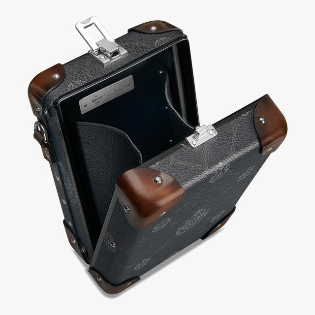 Sac Bandoulière Messenger Mini En Toile Et Cuir Globe-Trotter, BLACK+TDM INTENSO, hi-res