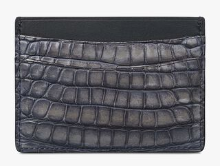 Porte-Cartes Bambou En Cuir D'Alligator, LIGHT GREY, hi-res