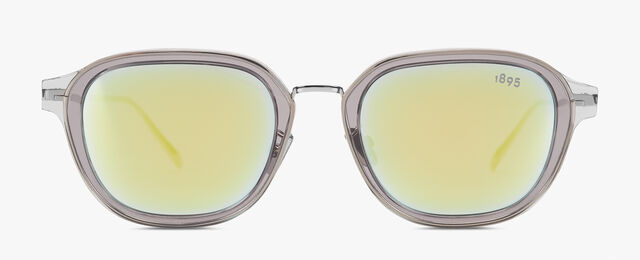 Equinox Metal And Acetate Sunglasses  , GREY+EXTRA GOLD, hi-res