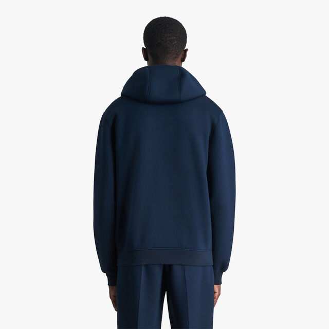 Zip-Up Hoodie With Embroidered Crest, ULTRAMARINE  / LEAD, hi-res