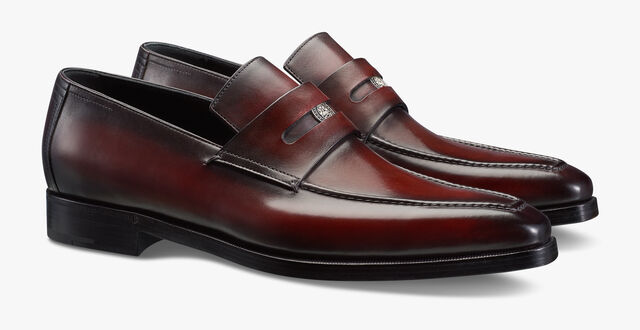 Berluti 125th Anniversary Andy Penny Loafer, DEEP RED, hi-res