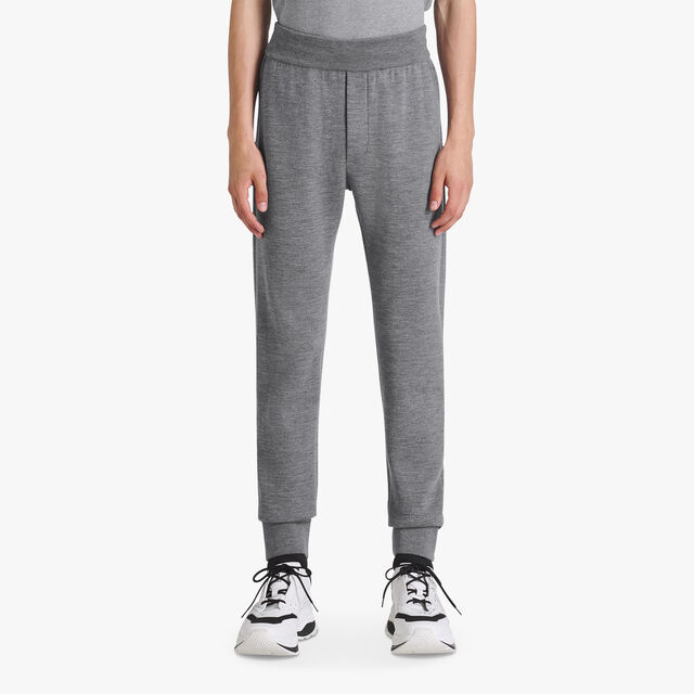 Light Wool Trousers With Scritto Lining, PEWTER GREY, hi-res