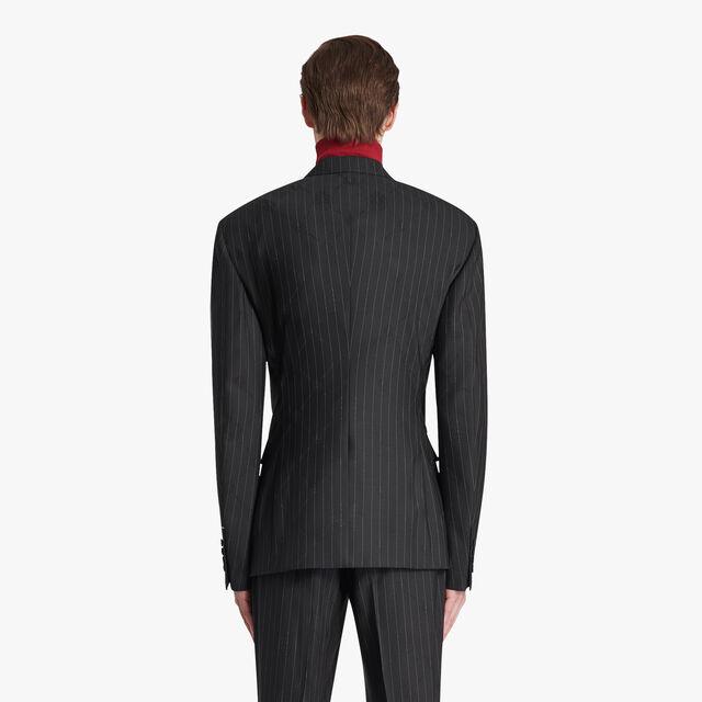 Mouline Check Regular Lined Jacket, BLACK CHECK, hi-res
