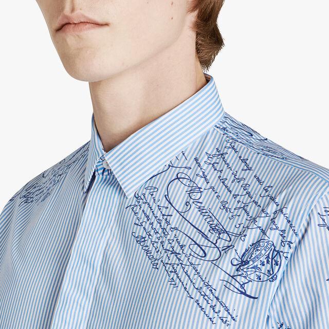 Chemise Scritto En Coton, ZENITH BLUE, hi-res