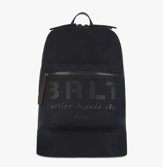 Velvet Canvas & Leather Backpack, NERO, hi-res