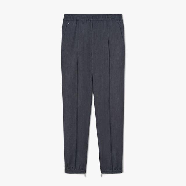 Wool Casual Jogpants, SPACE BLUE, hi-res