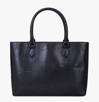 Toujours Leather Tote Bag, NERO GRIGIO, hi-res