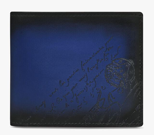 Makore Scritto Swipe Leather Wallet, UTOPIA BLUE, hi-res
